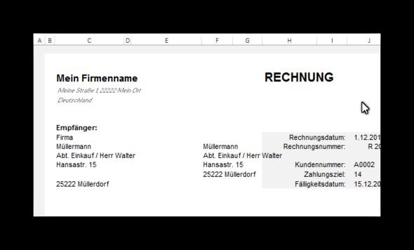 Excel Rechnung Adressen Mit Sverweis Auslesen Microsoft Office
