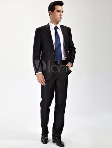 ball kann man zu einem schwarzen anzug eine dunkelblaue krawatte tragen. Black Bedroom Furniture Sets. Home Design Ideas