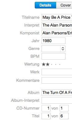iTunes Infofenster - (iTunes, Mac, Macbook)