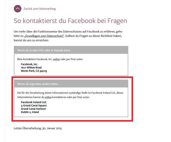 Addresse - (Facebook, Passwort, Email)