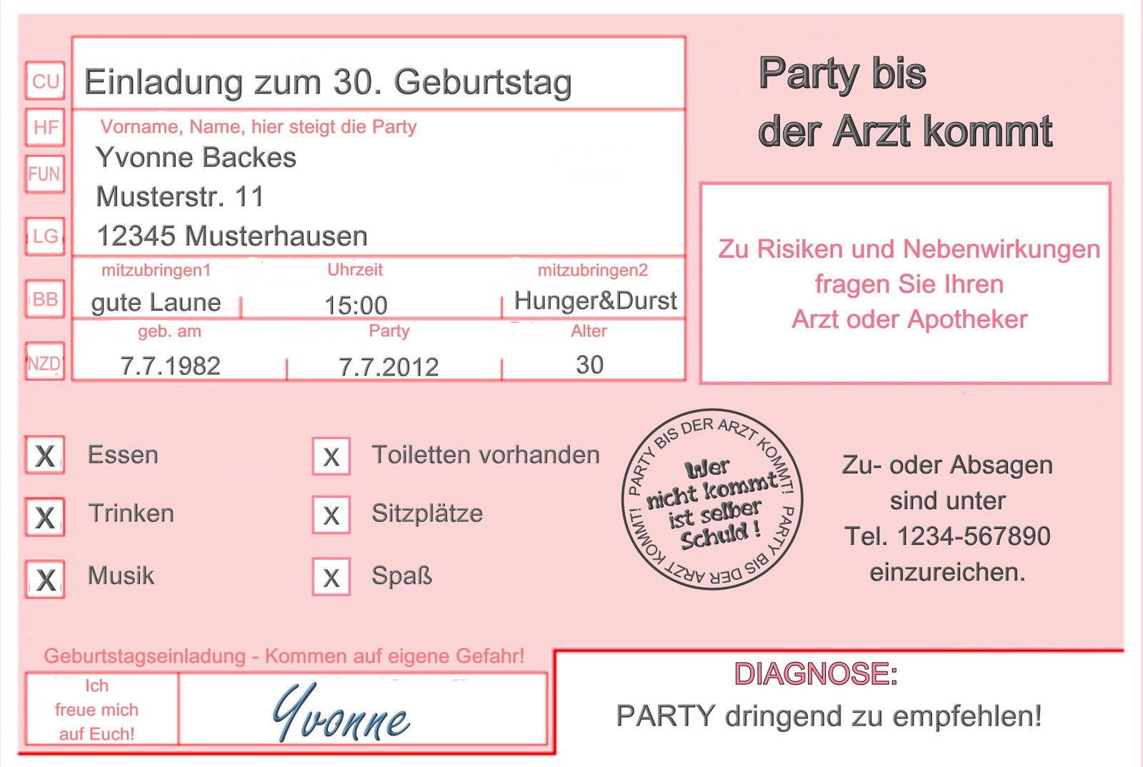 einladungskarten für meinen 50sten (geburtstag, einladung, runder