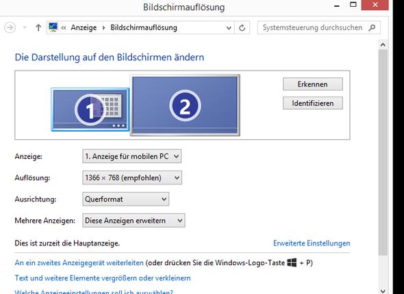 Hauptanzeige - (Computer, Monitor, HDMI)