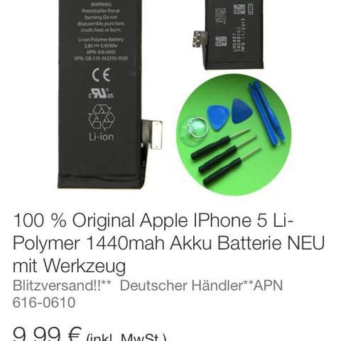 Akku für Iphone 5 - (Akku, Iphone5 Akku)