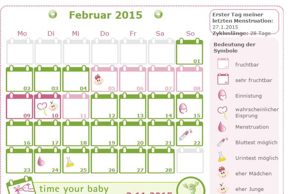 Zykluskalender - (Sex, Schwangerschaft, Verhuetung)