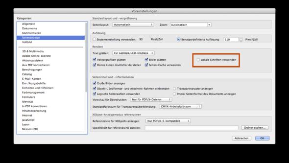 Adobe Reader/Acrobat - Lokale Schriften verwenden (aktivieren/deaktivieren) - (Computer, Technik, Programm)