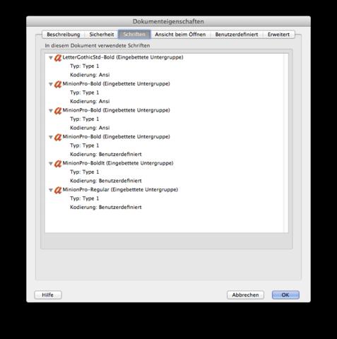 PDF-Datei herausfinden ob Schriften eingebettet sind - (Computer, Technik, Programm)