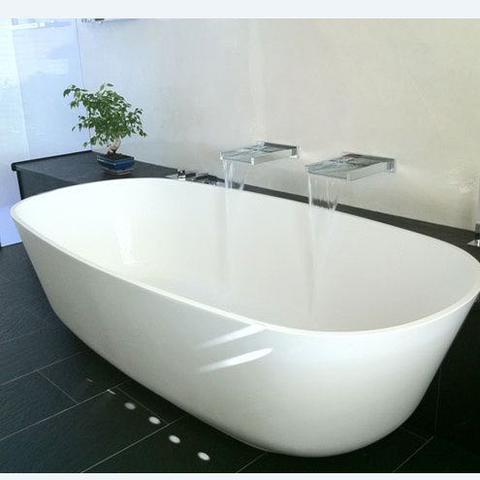 Baia Freistehende Badewanne Und Schieferablage   (Hygiene, Bad, Badezimmer)