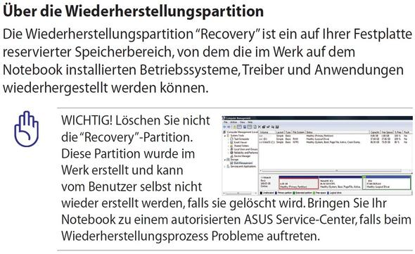 Asus Wieferherstellungspartition - (Computer, PC, Windows)