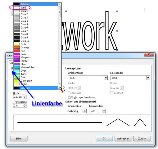 Fontwork Writer - (Schrift, Schriftart, OpenOffice)