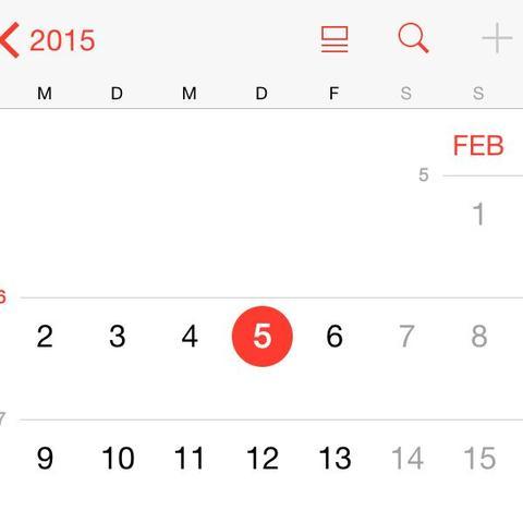 Kein plus :( - (Kalender, IPhone 5s, iOS 8)