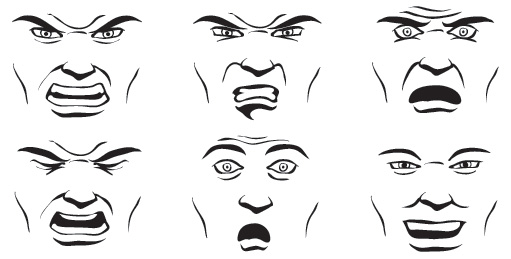 angry anime face drawing - photo #30