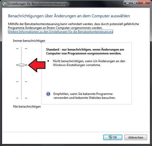 Benutzerkontensteuerung Windows 7 - (Windows, Kennwort)