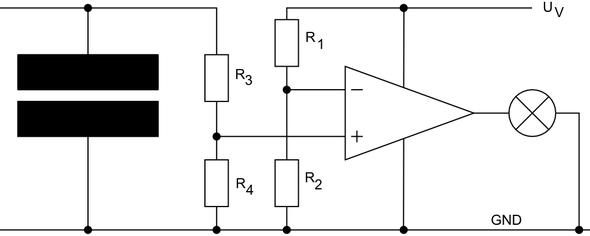 """Schaltung um einen """"vollen"""" Kondensator zu detektieren - (Elektronik, Elektrik, Elektrotechnik)"""