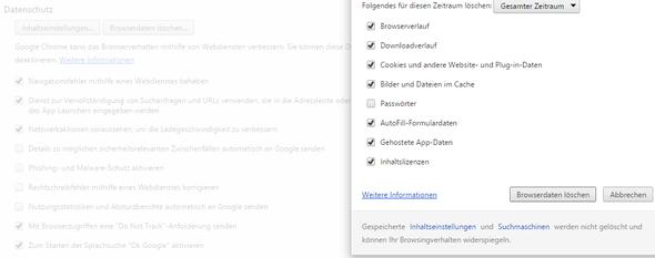 chrome  - (Internet, löschen, Browser)