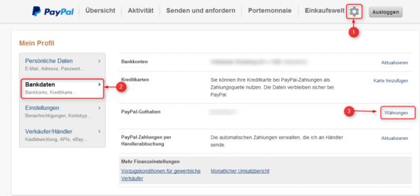 Paypal - Währungsrechner - (PayPal, Umrechnung)