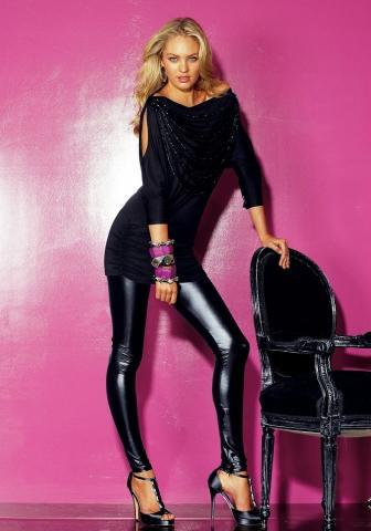 Candice Swanepoel in Leggings. - (Beauty, Mode, Styling)