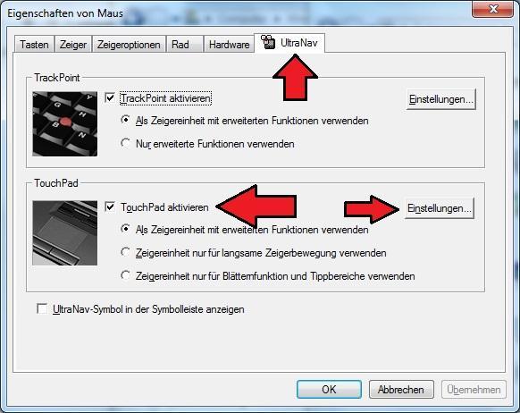 Windows7 Maus UltraNav Lenovo Thinkpad - (PC, Lenovo)