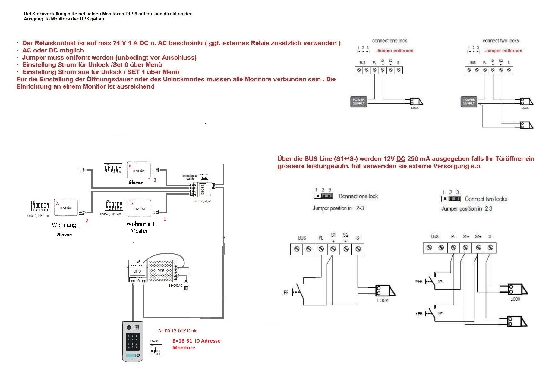 gegensprechanlage anschlie en 2 draht technik elektrik heimwerken haustechnik. Black Bedroom Furniture Sets. Home Design Ideas