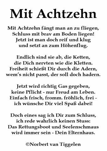 - (Gedicht, 18 Geburtstag, sprueche witze)