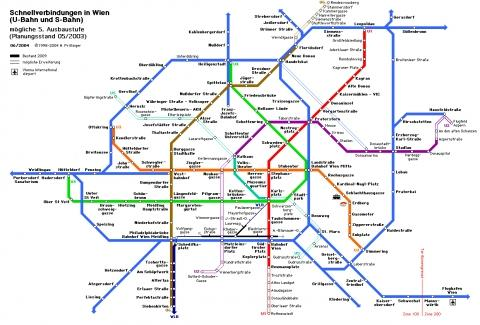 Bild des Wiener U-Bahn-Netzes - (Wien, U-Bahn)