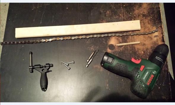 Kettenpeitsche DIY Material - (Fahrrad, Werkzeug, kassette)