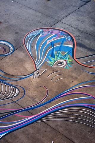 TAPE ART by TAPE OVER // funky octopus - (Tape, TAPEART)