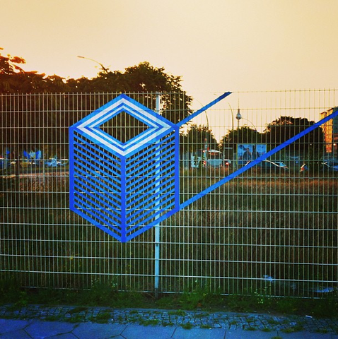 TAPE ART by TAPE OVER // BERLIN MUSIC WEEK // fence - (Tape, TAPEART)