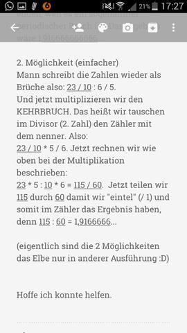 kommazahlen (dezimalbrüche) multiplizieren und dividieren? (schule