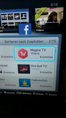 samsung - (App, Smart TV, Magine tv)