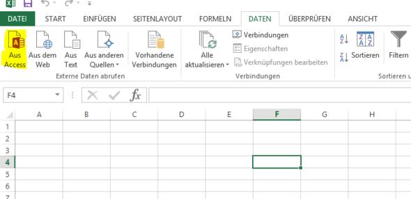Importieren aus Access - (programmieren, Excel, Programmierung)