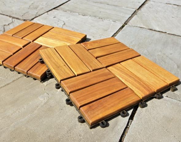 Stecksystem - Bodenfliese Holz - (Haushalt, wohnen, Terasse)