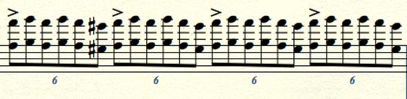 Figuration der ersten Streicher Sechstolen  - (Filmmusik, Van Helsing)
