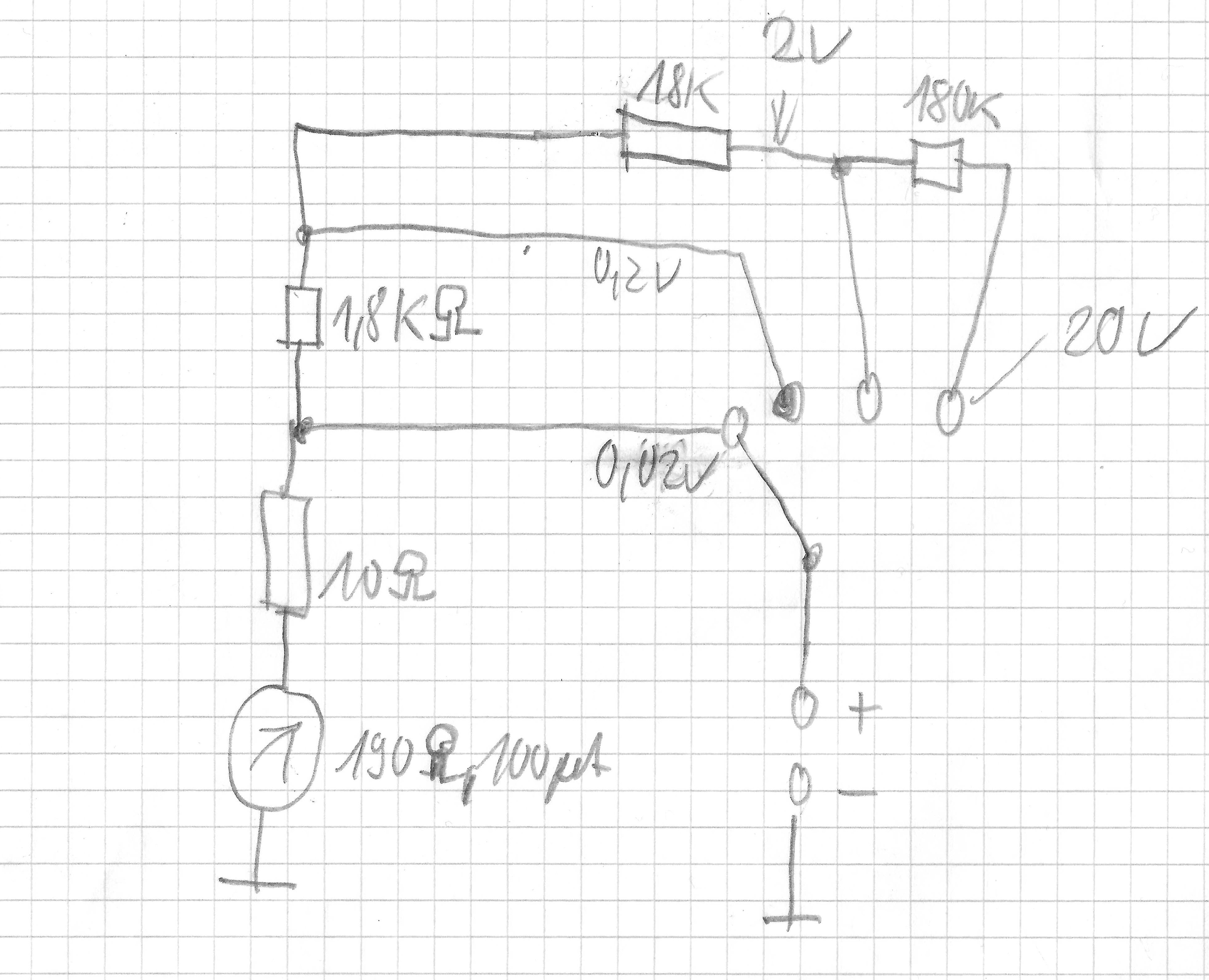 messtechnik drehspulinstrument zu voltmeter erweitern vorwiderstand berechnen autobatterie. Black Bedroom Furniture Sets. Home Design Ideas
