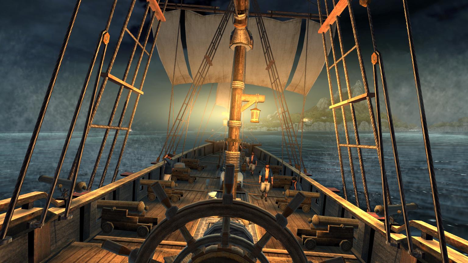 Pirate Ship Deck Backdrop Suche gutes Piratenspi...