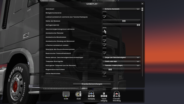 - (Geschwindigkeit, Euro truck simulator)