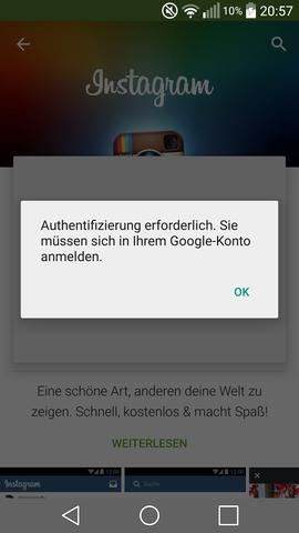 Authentifizierung Erforderlich Du Musst Dich Mit Meinem Google Konto Anmelden