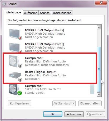 Wiedergabegeräte: Realtek (Bild 2) - (PC, Windows, Grafikkarte)