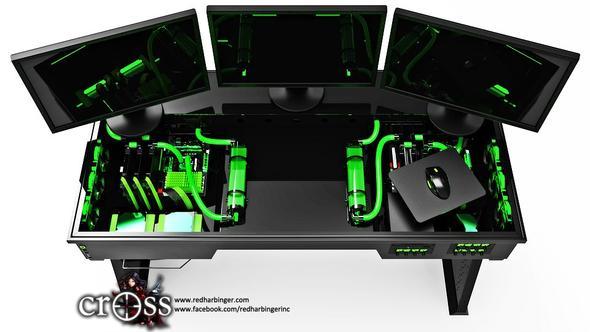 kann mit jemand sagen wo ich so ein hnliches pc gamer tisch kriege computer. Black Bedroom Furniture Sets. Home Design Ideas