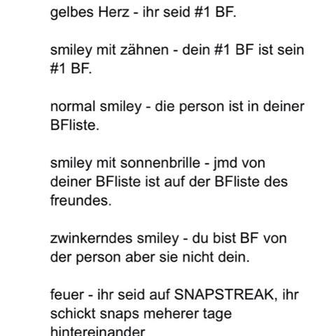 Snapchat Smiley Bedeutung