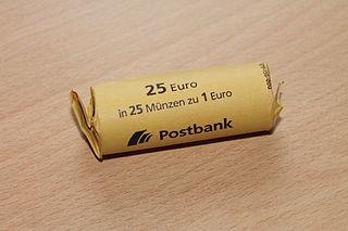 Münzrollen Postbank Geld Münzen