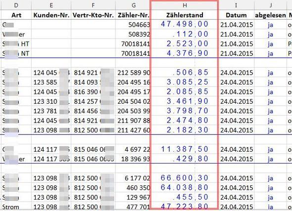 Gesperrte Zahl - (Excel, Format, gesperrt)