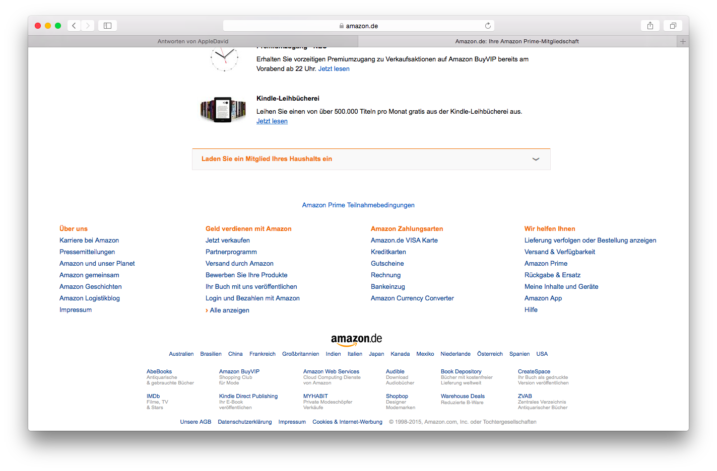Amazon Prime Mitgliedschaft teilen?