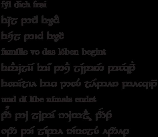 Tattoo Elbische Schrift Tengwar Herr Der Ringe