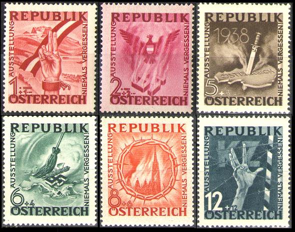 die ersten sechs Motive - (Geschichte, Österreich, Weltkrieg)