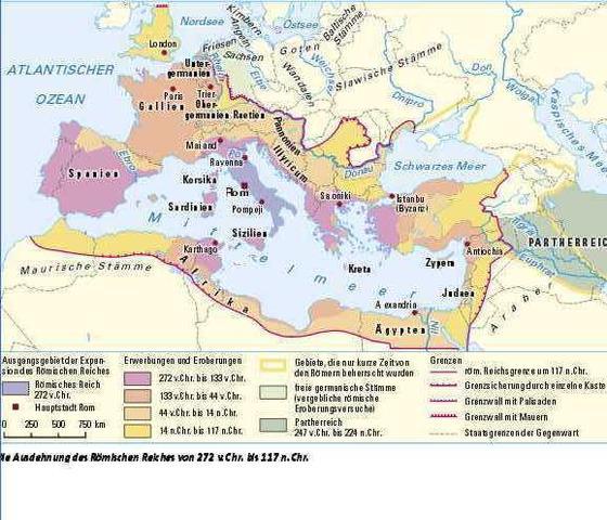 Römisches Reich Karte.Ausdehnung Römisches Reich Schule Geschichte Prüfung