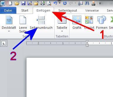 Bei Word Seiten Direkt Untereinander Schreiben