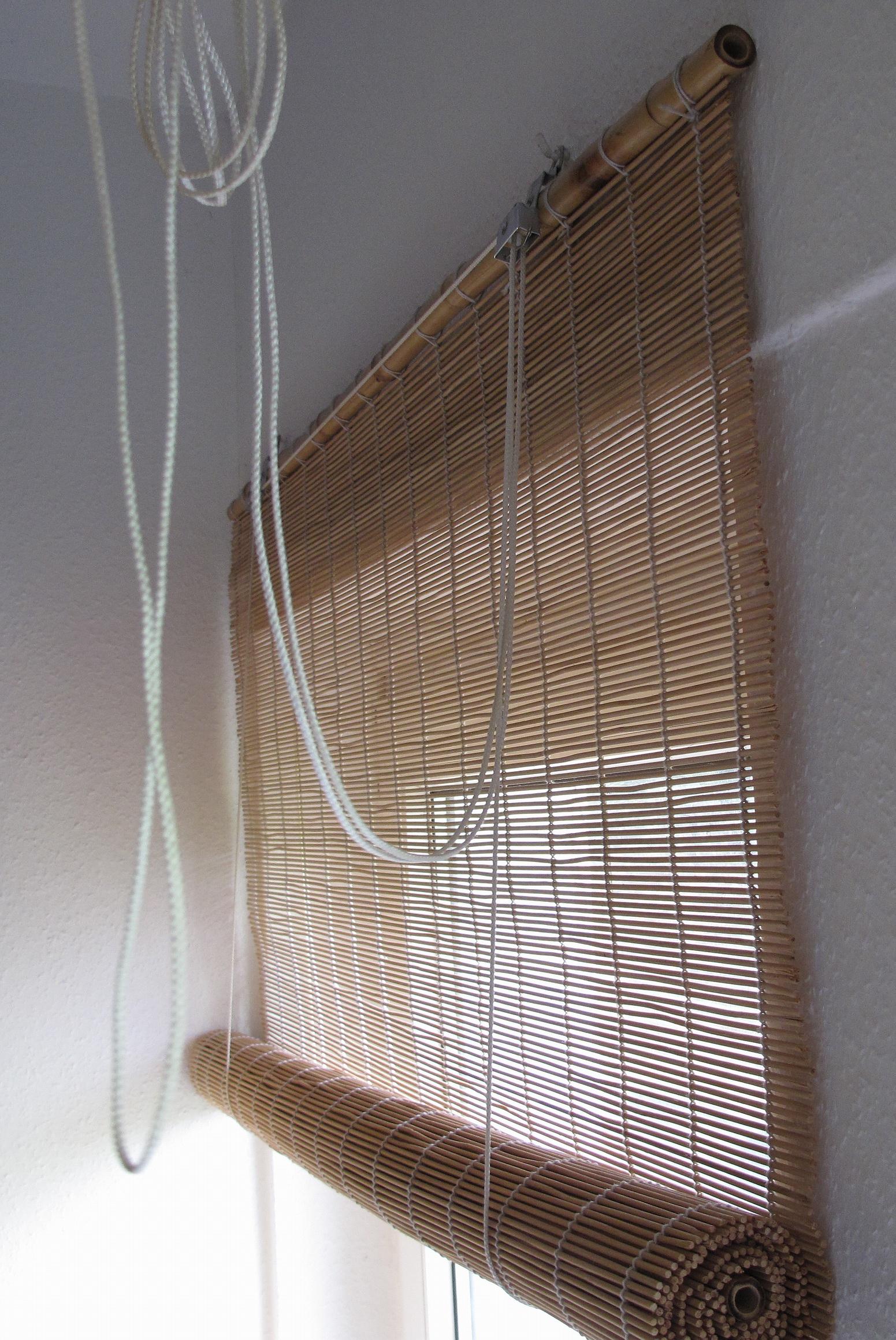seilf hrung vom bambusrollo haushalt reparatur. Black Bedroom Furniture Sets. Home Design Ideas