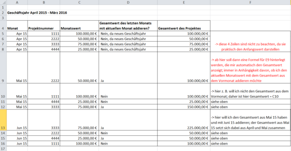 Überarbeitetes Beispiel - (Suche, Excel, Letzter Monat)