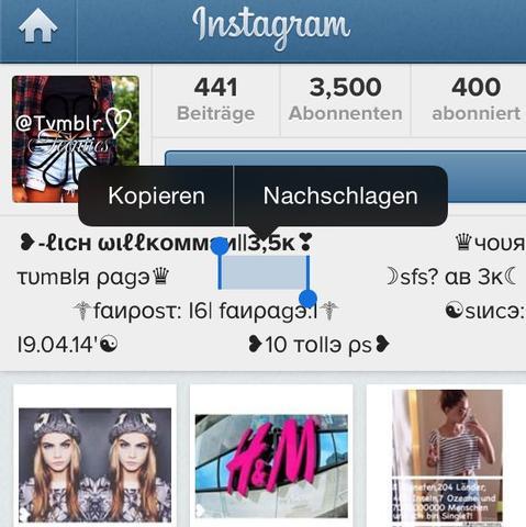 Sfs instagram bedeutung