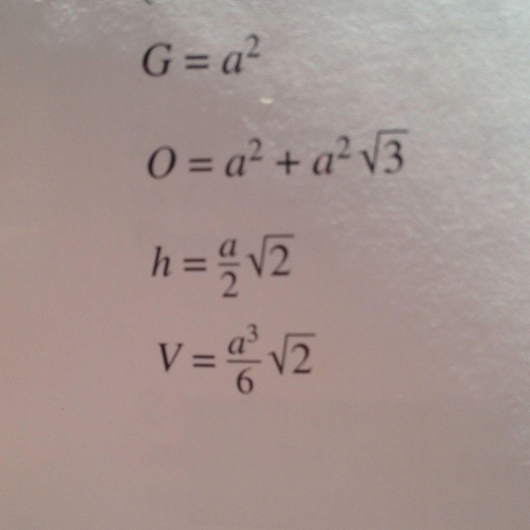 wie kann man in mathe die mantel- und oberfläche einer
